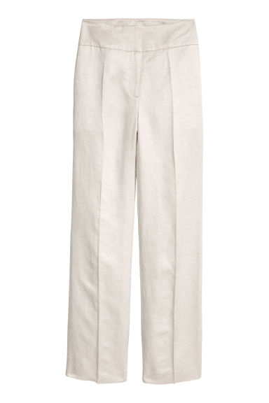 Linen-blend suit trousers Model