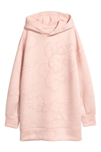 Scuba hooded top - Powder pink/Patterned - Ladies | H&M GB