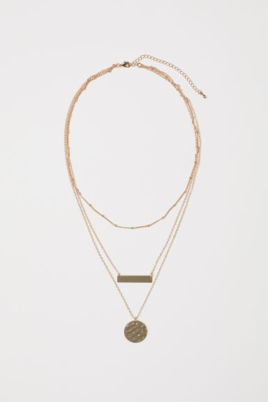 Three-strand necklace - Gold-coloured - Ladies | H&M CN
