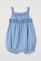 Light blue/Smocking