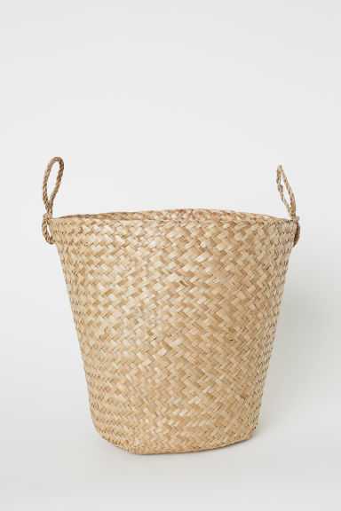 Large braided storage basket - Natural - Home All | H&M CN