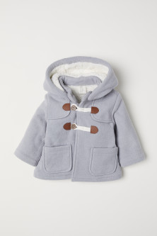 Pile-lined duffle coat