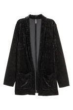 Crushed velvet jacket - Black - Ladies | H&M 2