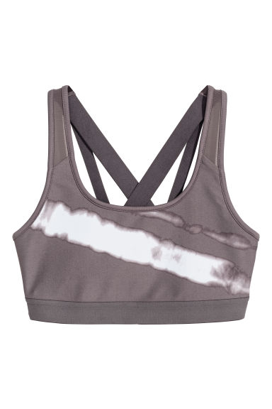 Sports bra Low support - Dark grey - Ladies | H&M
