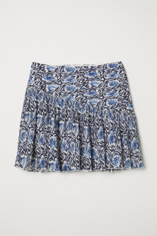 Crinkled skirt