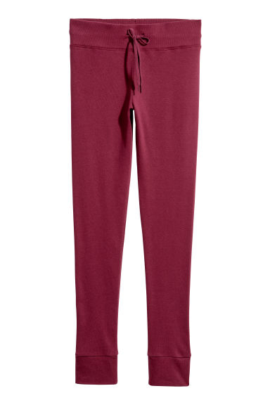 Sweatshirt leggings - Burgundy - Ladies | H&M IE