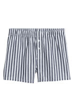 3-pack woven boxer shorts - Dark blue/Patterned - Men | H&M CN 4