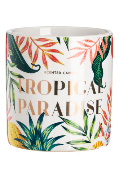 Bougie parfumée - Blanc/Tropical Paradise - Home All | H&M FR