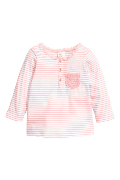 Jersey top - Pink striped -  | H&M CN