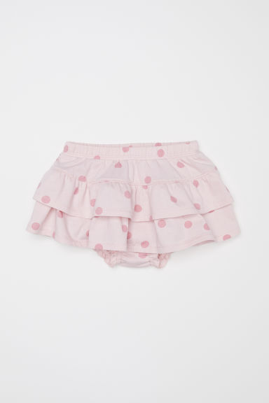 Jersey tiered skirt - Light pink/Spotted - Kids | H&M CN
