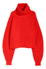 Knitted wool-blend jumper - Bright red -  | H&M CN 2