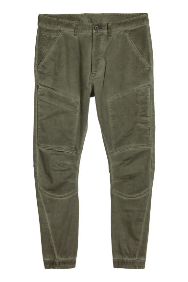 Cargo trousers - Dark khaki green - Men | H&M IE