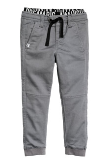 Twill pull-on trousers