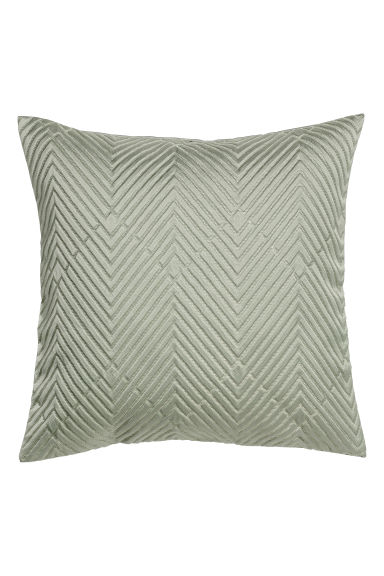 Jacquard-weave cushion cover - Light green - Home All | H&M CN