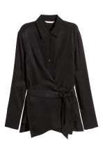 Wrapover shirt - Black - Ladies | H&M CN 2