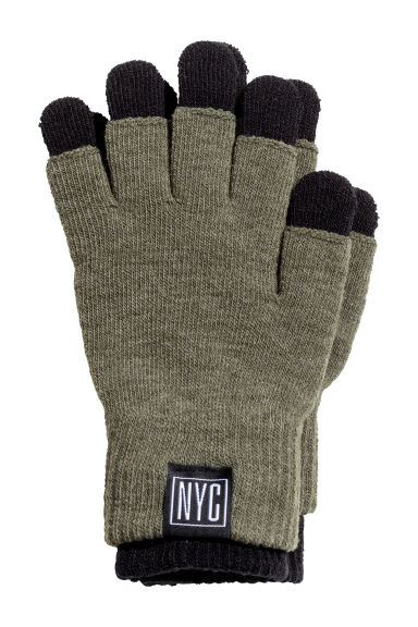 Gloves/fingerless gloves - Dark khaki green - Kids | H&M GB
