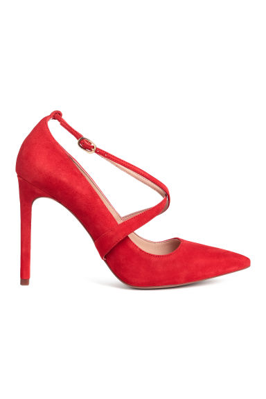 Court shoes - Bright red/Suede - Ladies | H&M GB