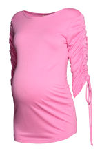 MAMA Top with gathered sleeves - Pink - Ladies | H&M CN 2