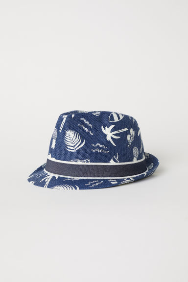 Cappello in paglia - Blu scuro/fantasia - BAMBINO | H&M IT