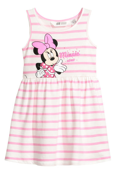 Sleeveless jersey dress - Light pink/Minnie Mouse -  | H&M CN