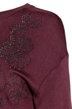MAMA Top - Burgundy - Ladies | H&M 2