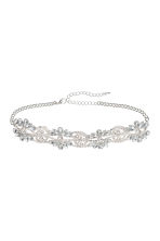 Sparkly stone choker - Silver-coloured - Ladies | H&M IE 1