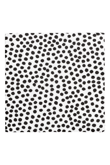 Paper napkins - White/Black spotted - Home All | H&M CN