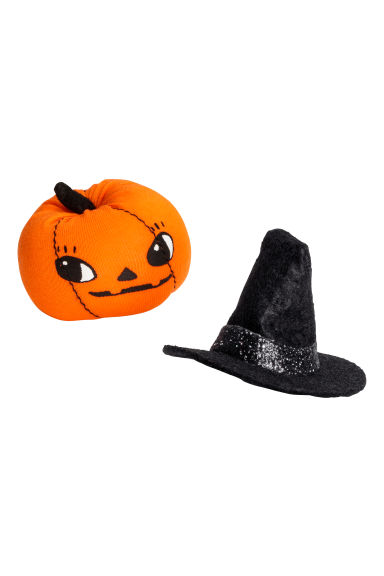 2-pack hair clips - Hat/Pumpkin -  | H&M IE