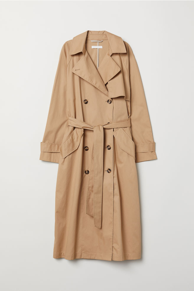 Long Trenchcoat - Beige - Ladies | H&M US 5