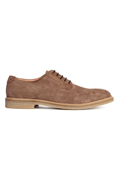 Leather Derby shoes - Dark mole -  | H&M CN
