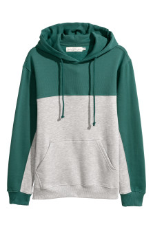 Color-block Hooded Sweatshirt