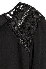 Long-sleeved top with lace - Black - Ladies | H&M IE 3