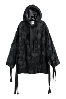 Jacquard-patterned Hooded Top