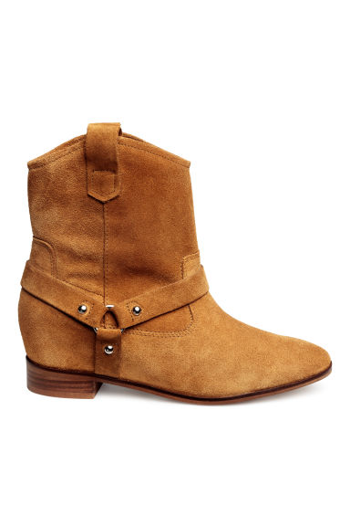 Suede ankle boots - Camel -  | H&M