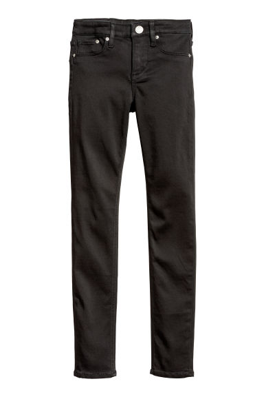 Skinny fit Satin Jeans - Noir - ENFANT | H&M BE
