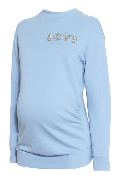 MAMA Sweatshirt - Light blue/LOVE -  | H&M CN