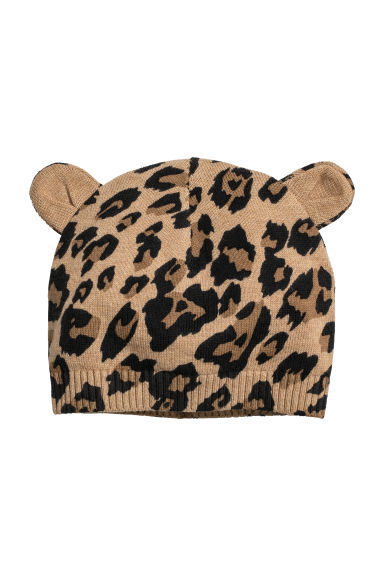 Knitted hat - Leopard print - Kids | H&M