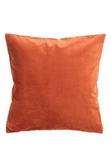 Velvet cushion cover - Dark orange -  | H&M GB