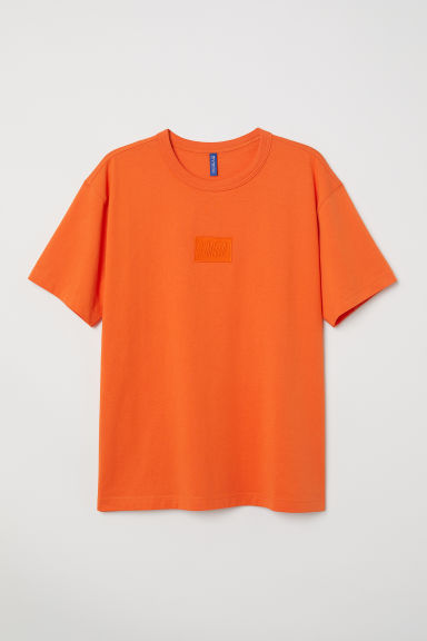Cotton jersey T-shirt - Orange - Men | H&M CN