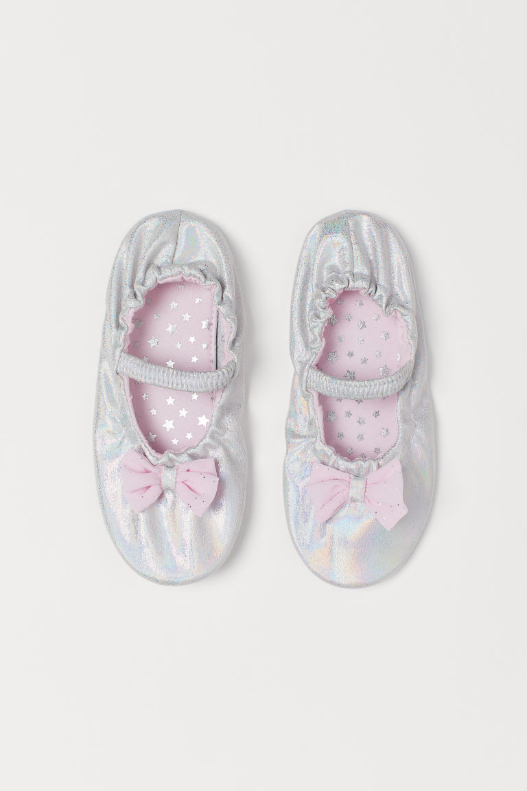 Shimmering dance shoes - Silver-coloured/Glitter - Kids | H&M GB