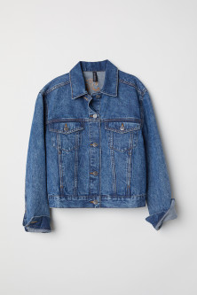 Denim Jacket with Appliqués