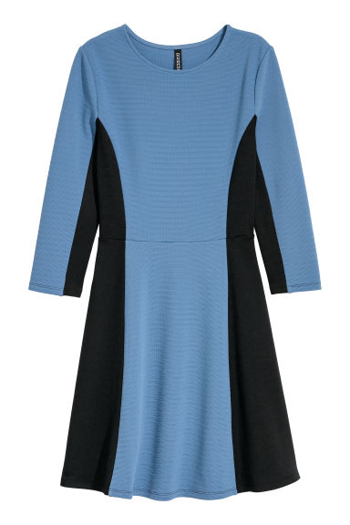 Jersey dress - Blue/Black -  | H&M