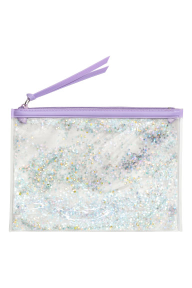 Transparent wash bag - Light purple/Stars - Ladies | H&M CN