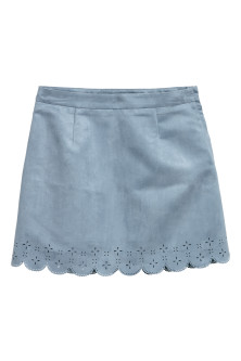 Imitation suede skirt