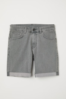 Skinny denim shorts