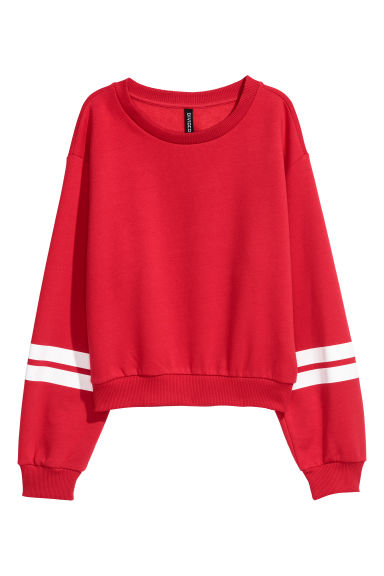 Sweatshirt with a motif - Red -  | H&M IE