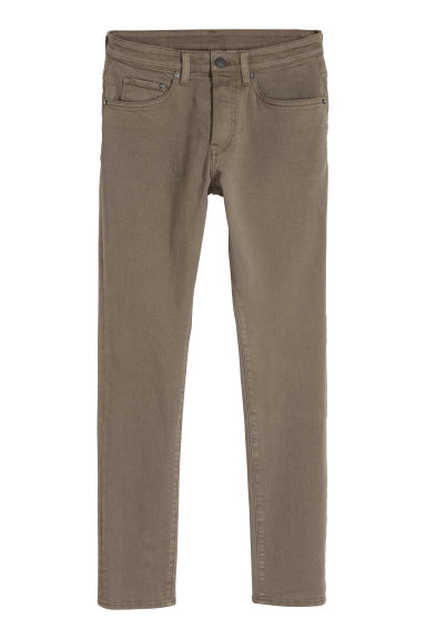 Skinny Low Jeans - Dark khaki green - Men | H&M