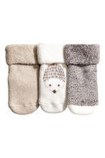 3-pack socks - Natural white/Hedgehog - Kids | H&M 2