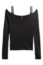 Cold shoulder top - Black - Ladies | H&M GB 2