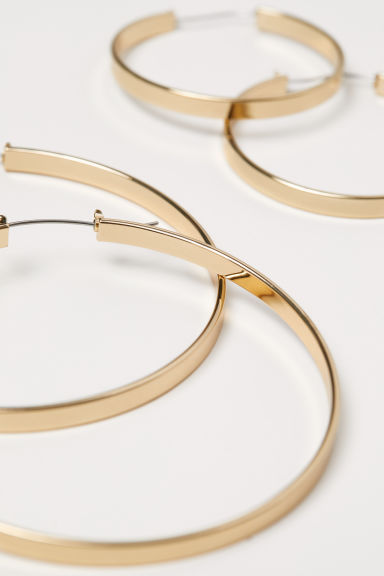 2 pairs hoop earrings - Gold - Ladies | H&M IE